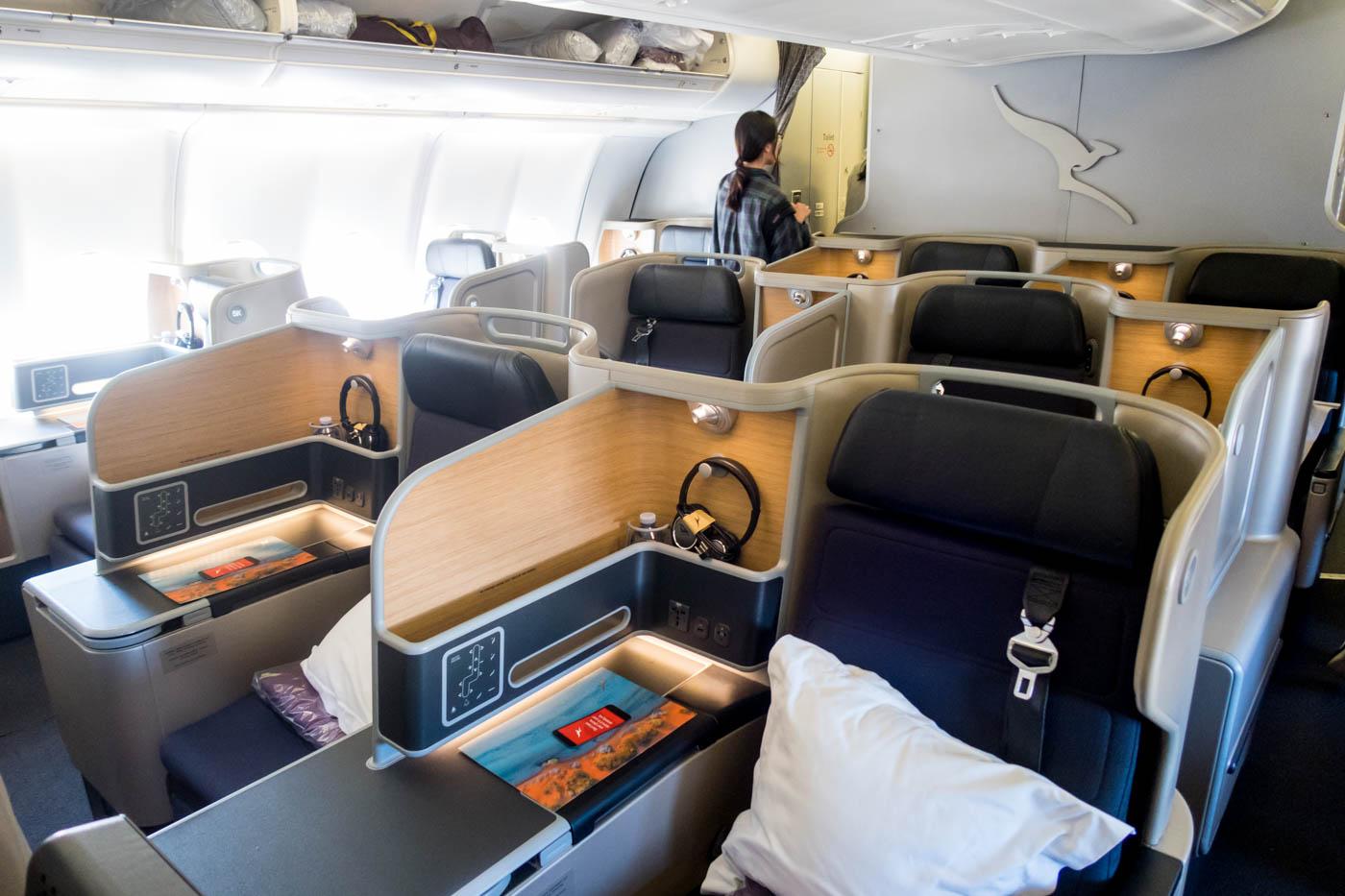 Qantas Airbus A330-300 Business Class Cabin