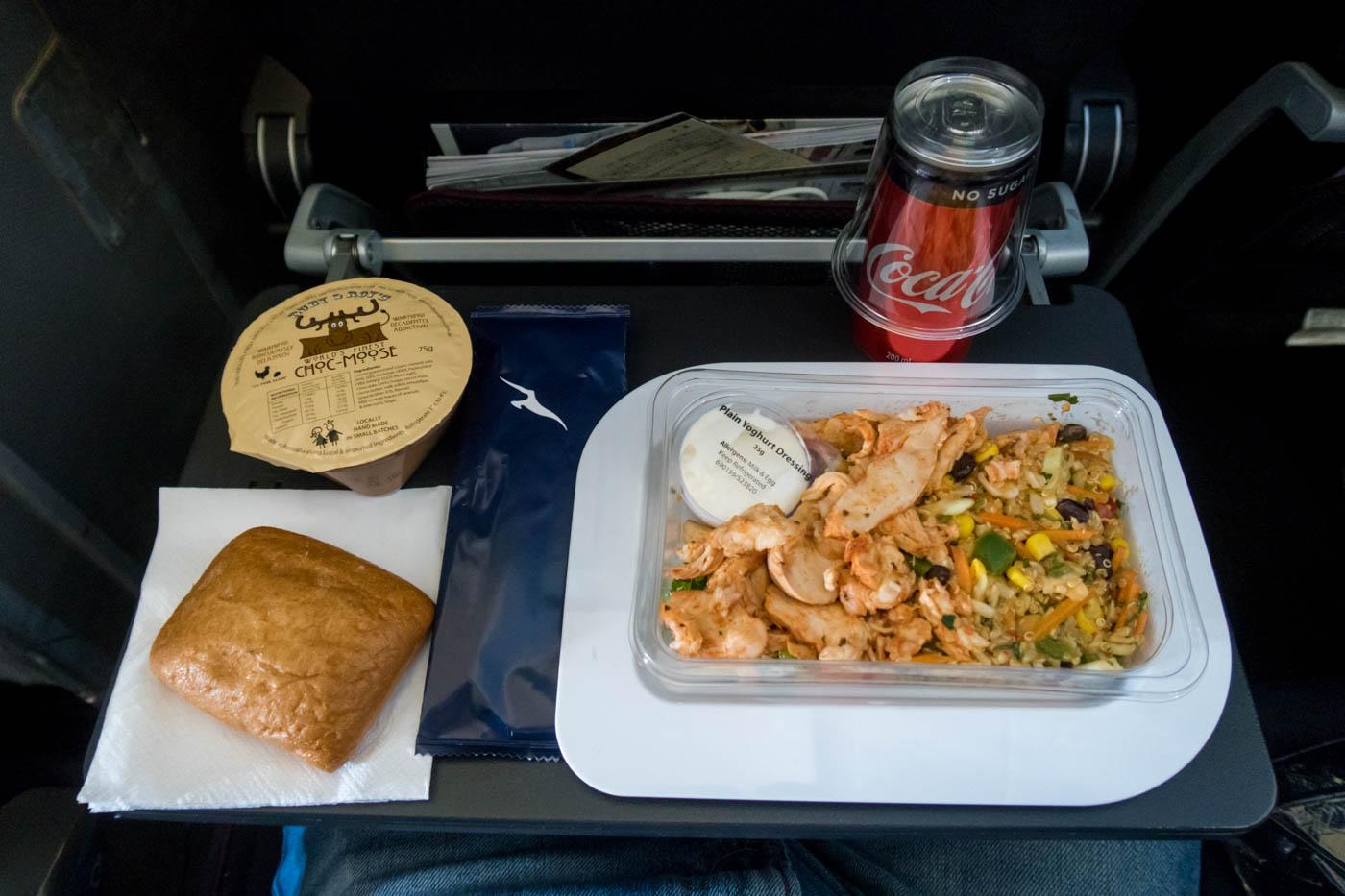 Qantas Economy Class Lunch