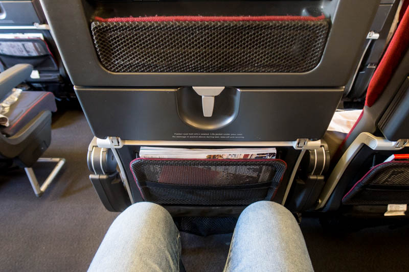 Leg Room on Qantas A330
