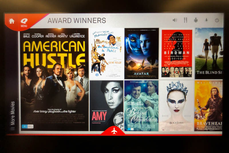 Movies on Qantas A330