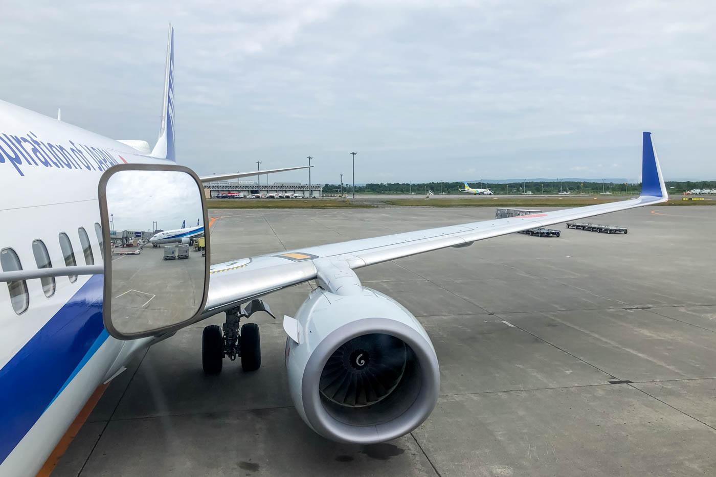 Boarding ANA 737-800