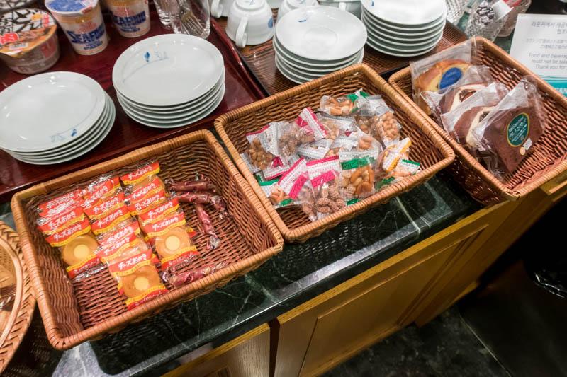 Korean Air Lounge Snacks