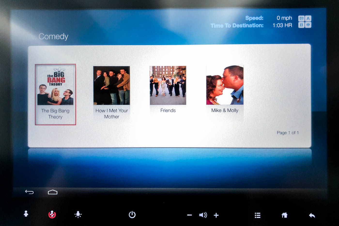 Korean Air In-Flight Entertainment System TV Shows