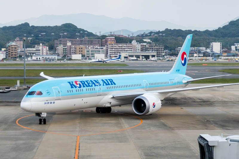 Korean Air Boeing 787-9 at Fukuoka Airport