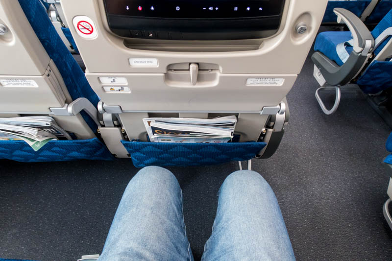 Korean Air Boeing 787-9 Economy Class Legroom