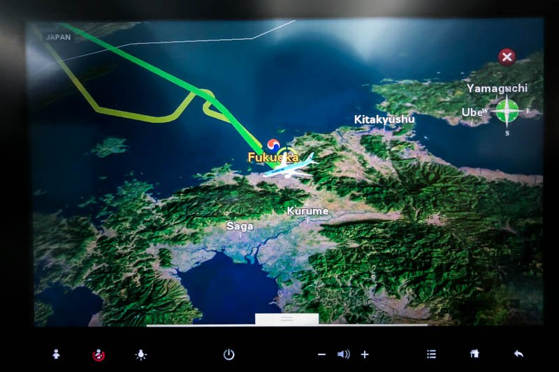 Korean Air In-Flight Entertainment System Map