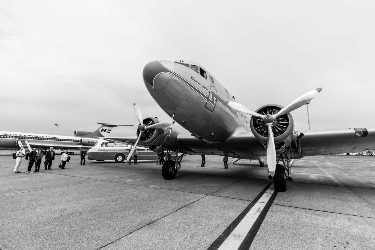 Malev Lisunov Li-2, Ikarus 55 and Tupolev Tu-154