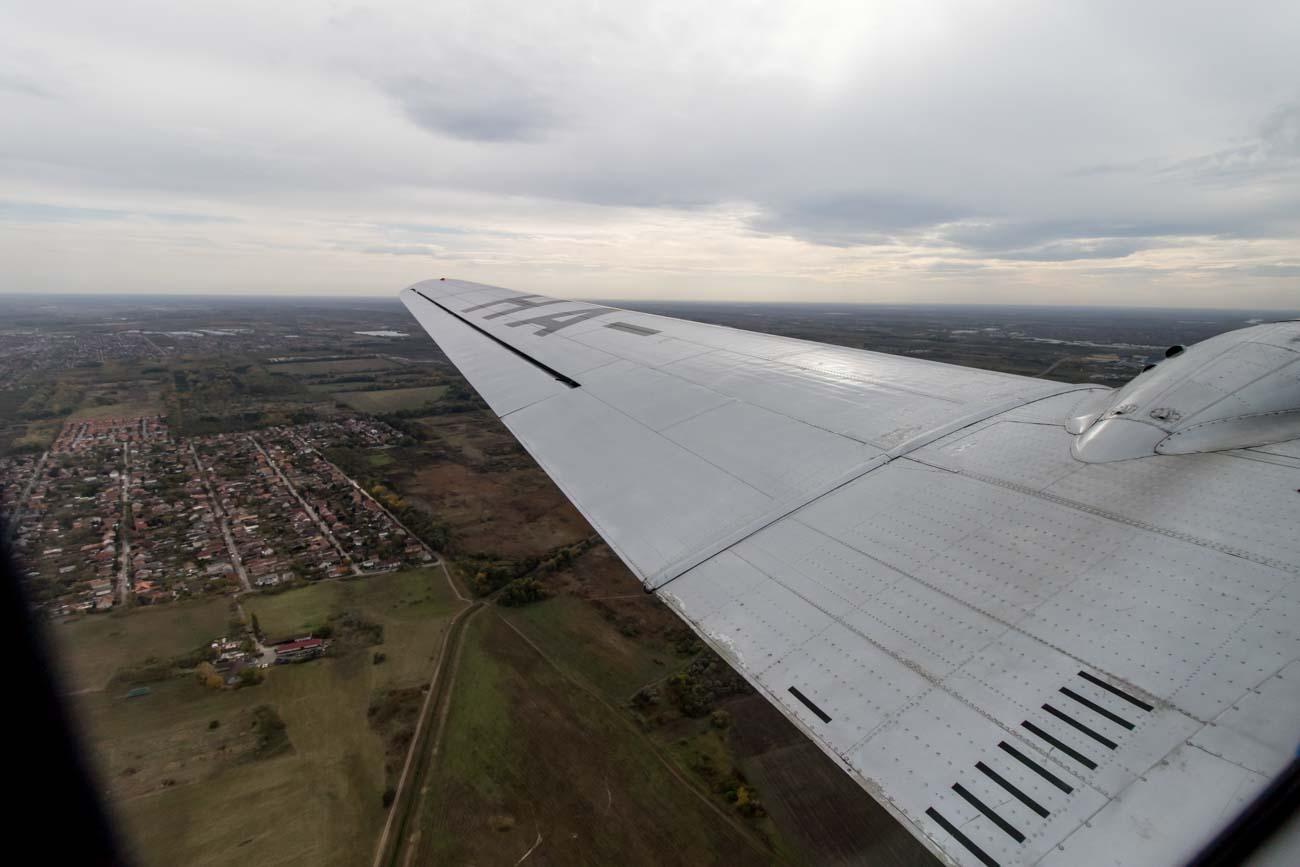 Lisunov Li-2 Malev Wing View