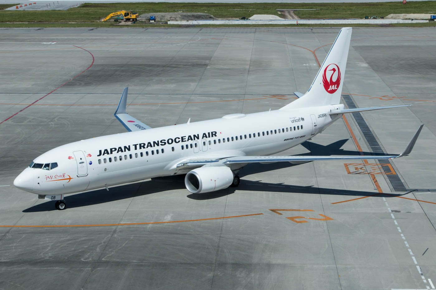 JTA Japan TransOcean Air 737-800 at Naha Airport