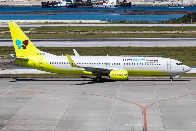 Jin Air 737-800 at Naha Okinawa