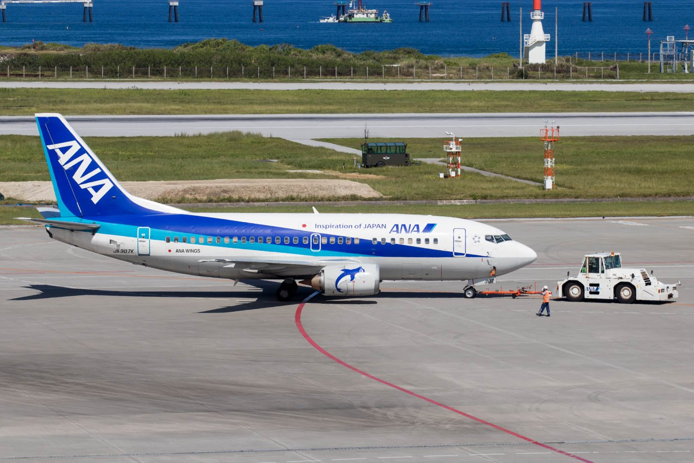 ANA Wings 737-500 at Naha Okinawa