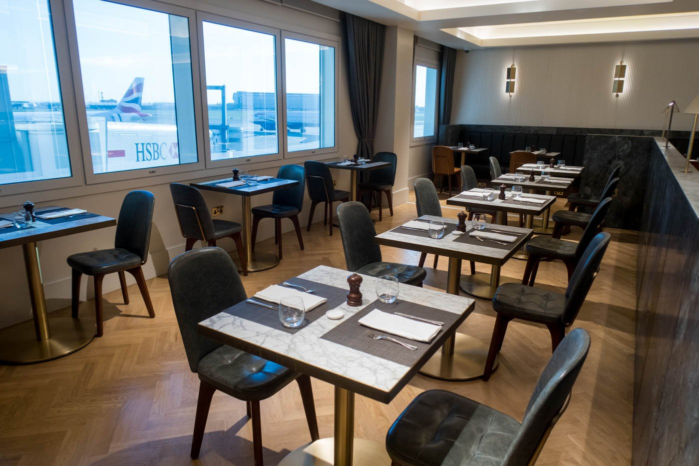 The Qantas London Lounge Dining Room