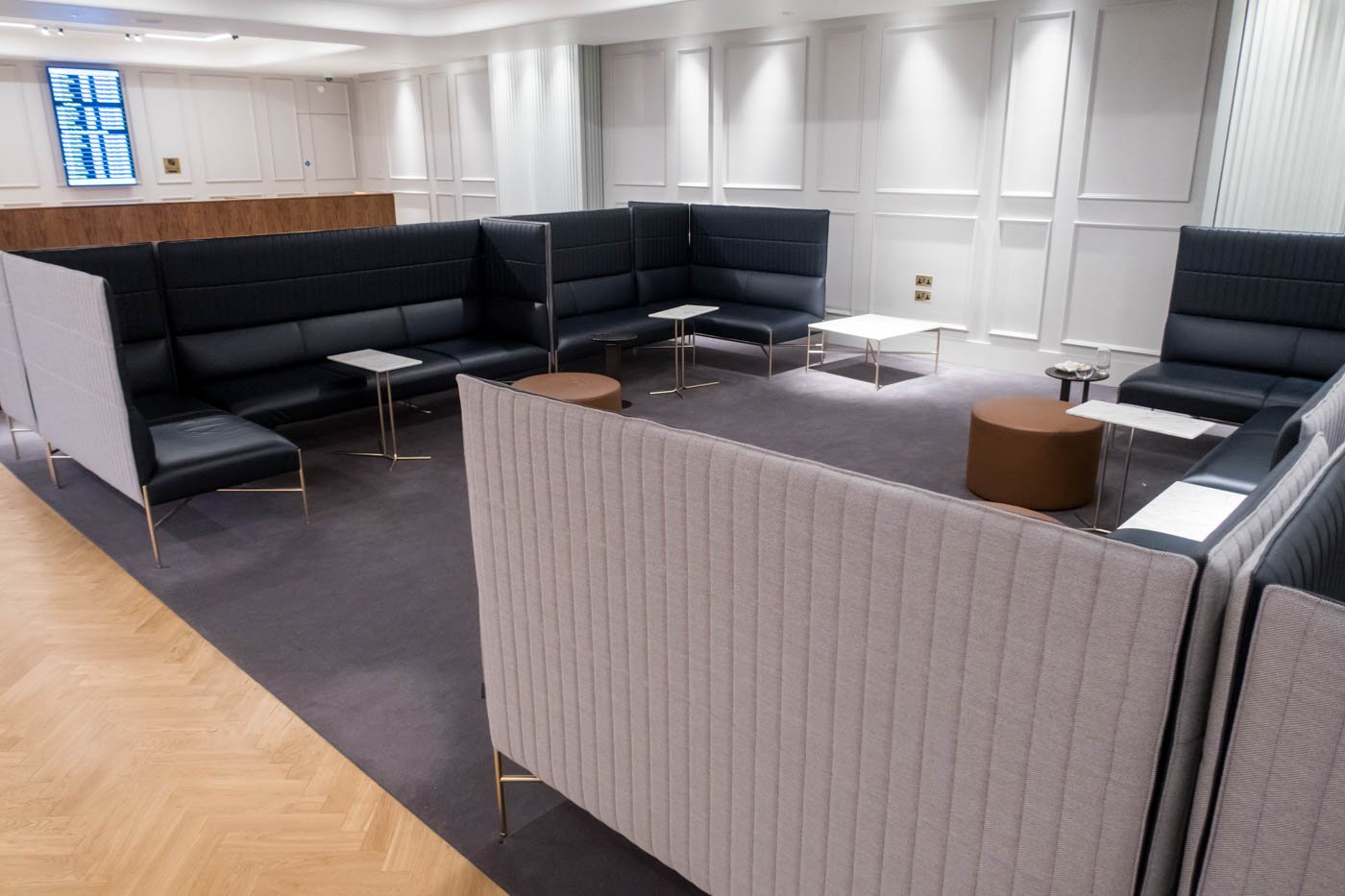 The Qantas London Lounge Seating