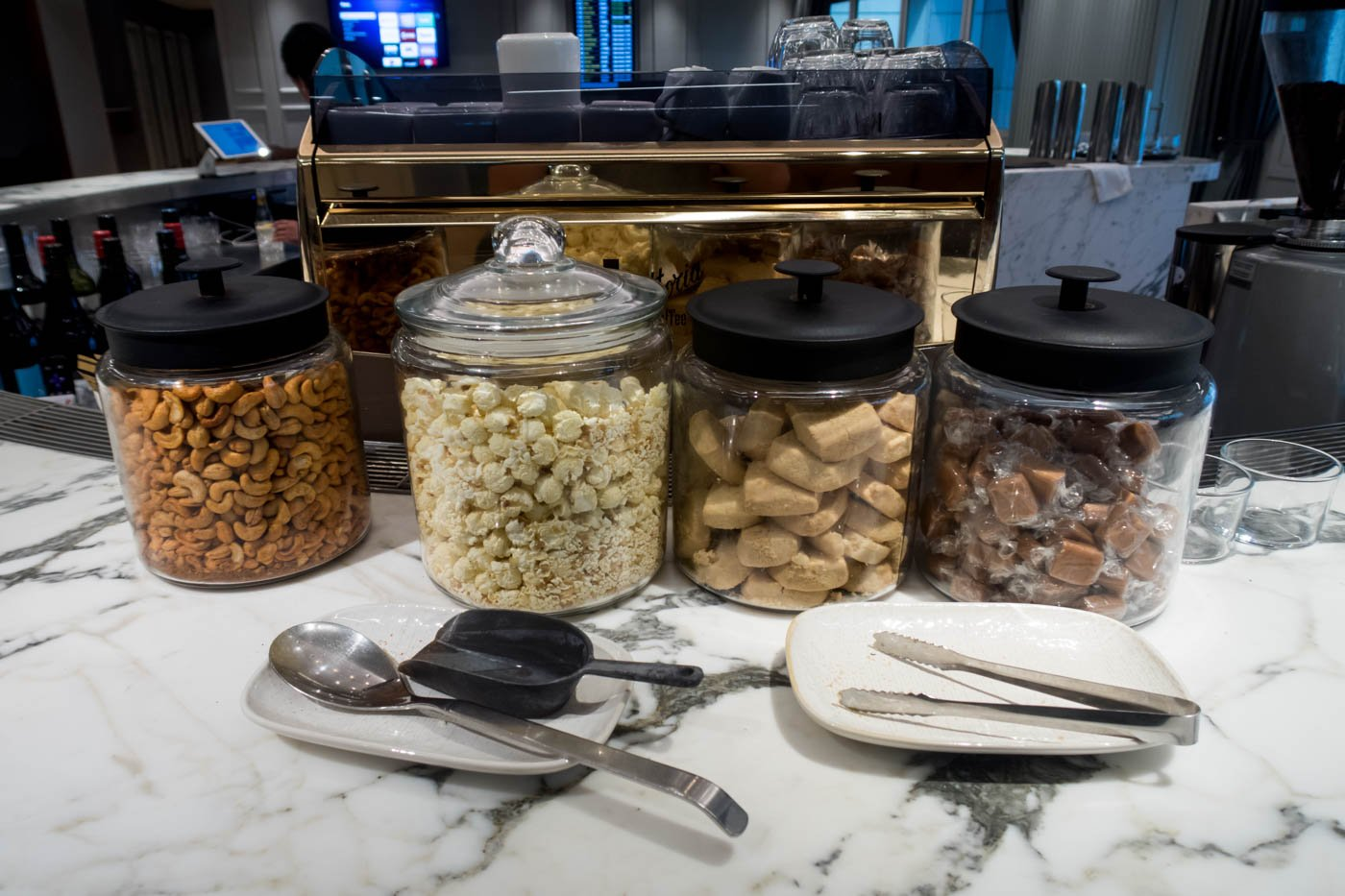 The Qantas London Lounge Snacks