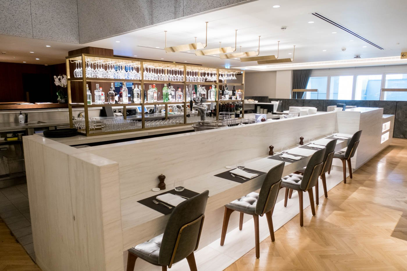 The Qantas London Lounge Gin Bar