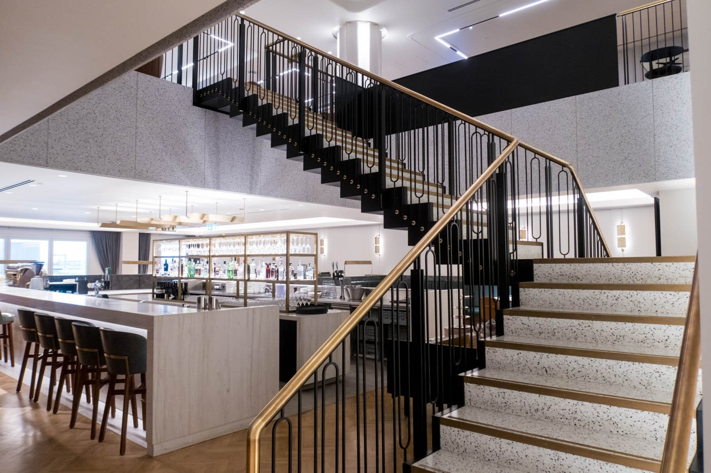 The Qantas London Lounge Staircase