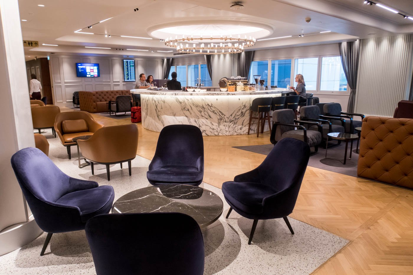 The Qantas London Lounge Upper Level Seating