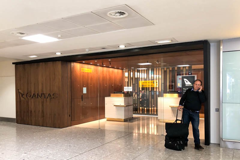 The Qantas London Lounge Entrance