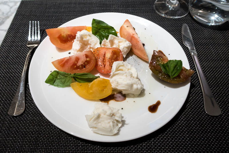 The Qantas London Lounge Mozzarella Salad