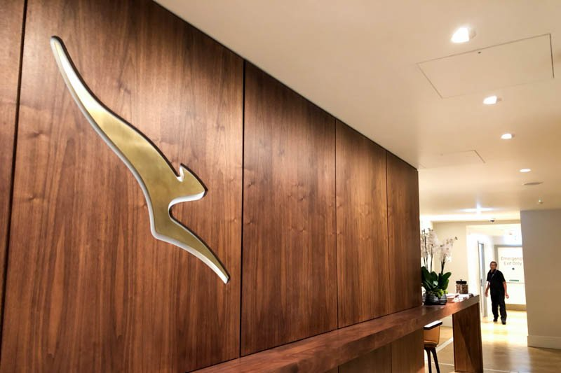 Qantas First and Business Class Lounge at London Heathrow Entran