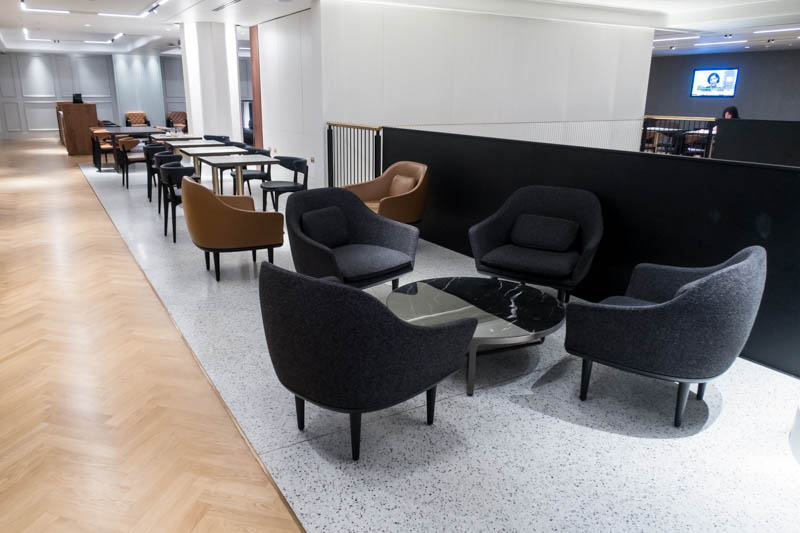 The Qantas London Lounge Sofas