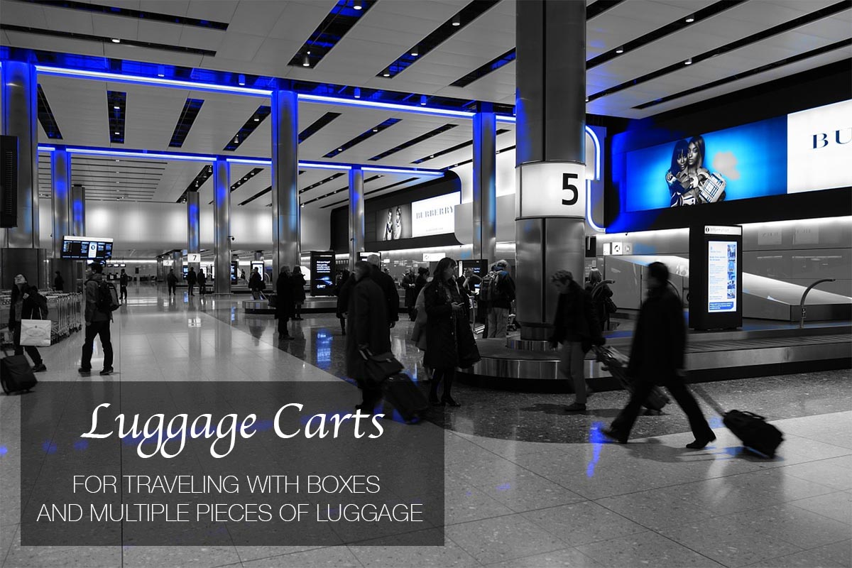5 Best Luggage Carts for Traveling with Boxes and Multiple Pieces of Luggage