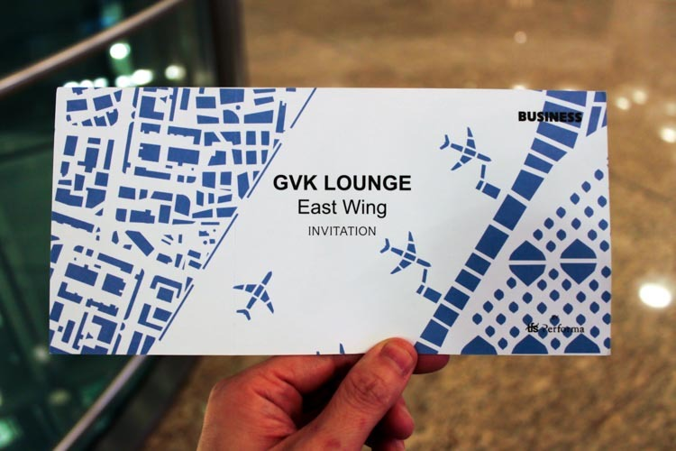 GVK Lounge Mumbai East Wing Invitation