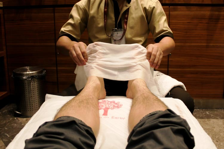 GVK Lounge Mumbai East Wing Free Foot Massage