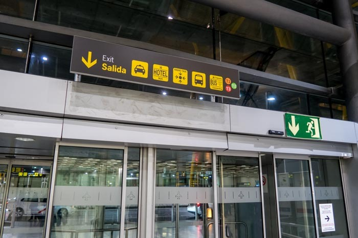 Hotel Shuttle Bus Stop at Madrid Barajas