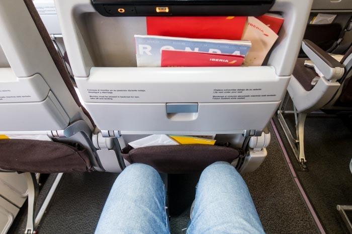 Iberia A330-200 Economy Class Legroom