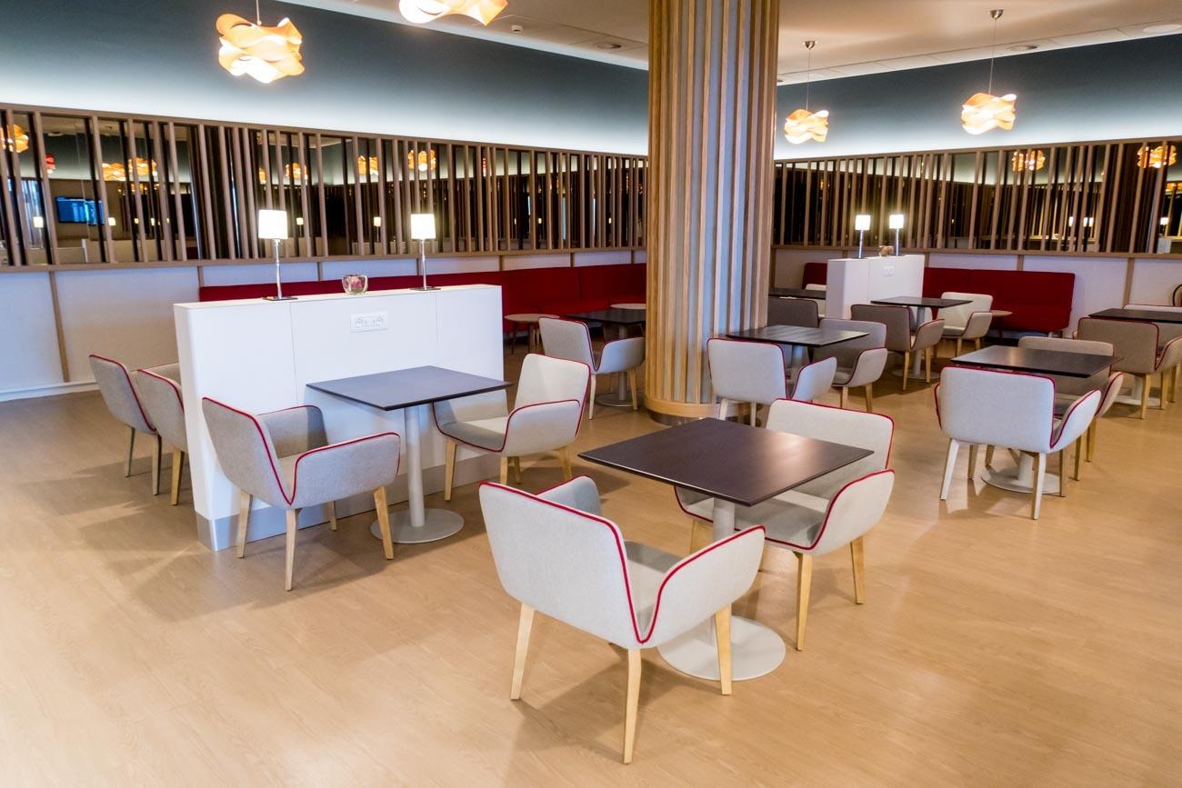 Iberia Premium Lounge Velazquez Madrid A La Carte Dining Room