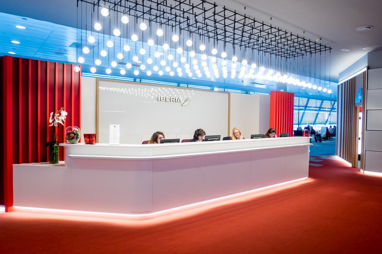 Iberia Premium Lounge Velazquez Madrid Reception