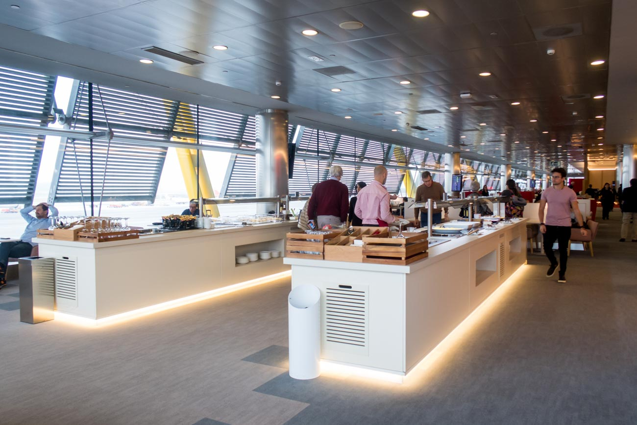 Buffet Counters in Iberia Lounge at Madrid Barajas