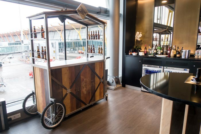 Beer Cart at Iberia Lounge Madrid
