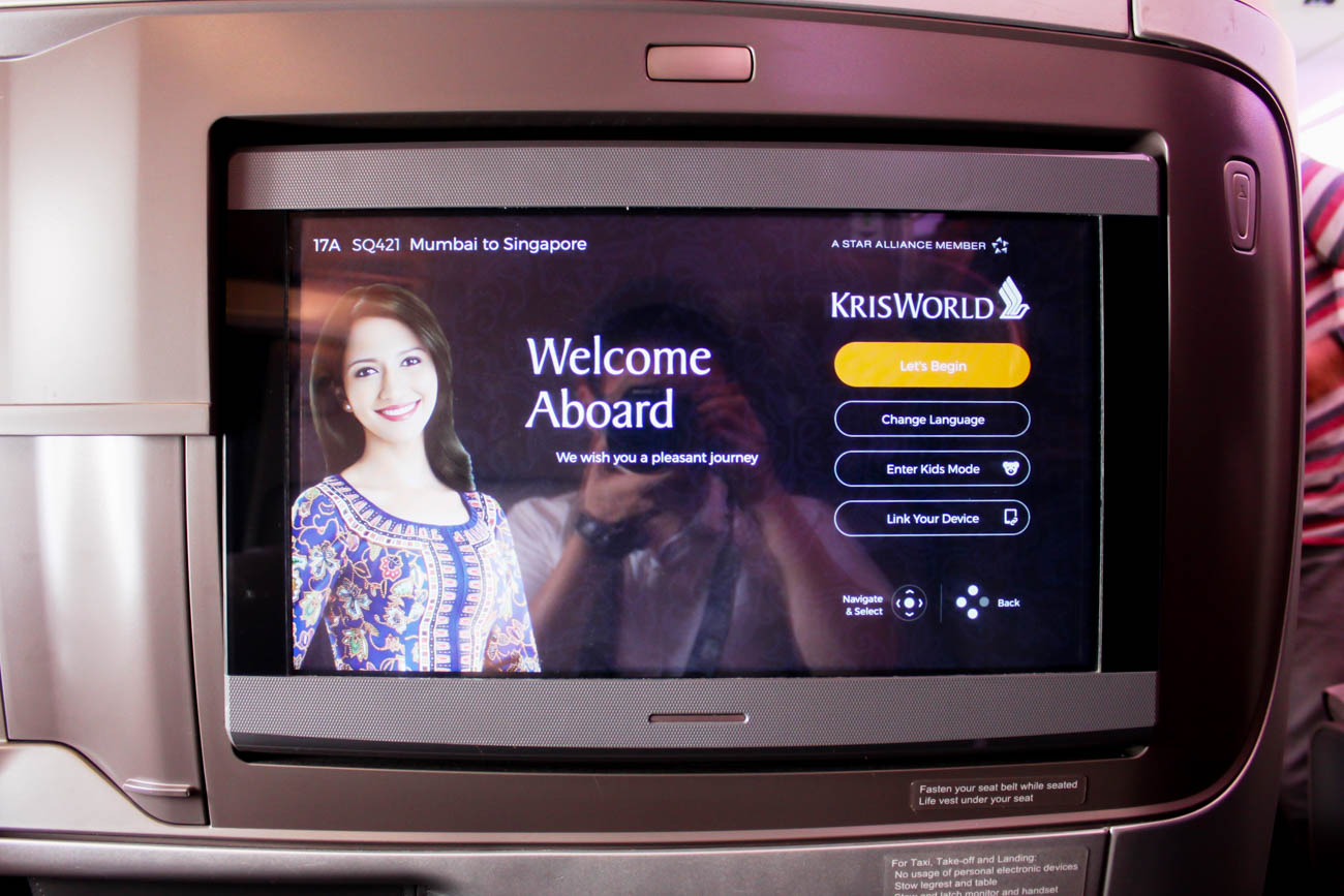 Singapore Airlines In-Flight Entertainment System
