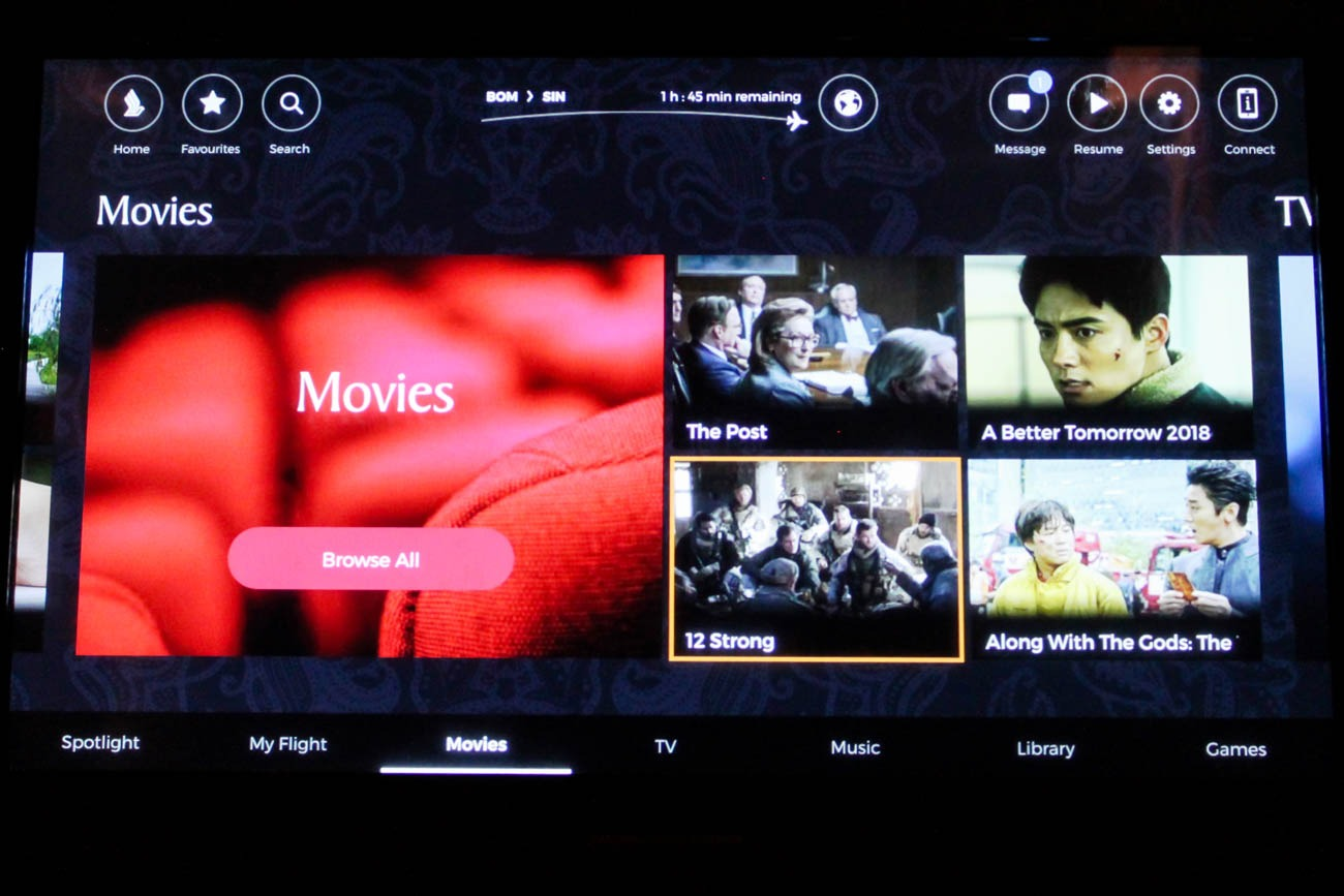 Singapore Airlines Movies