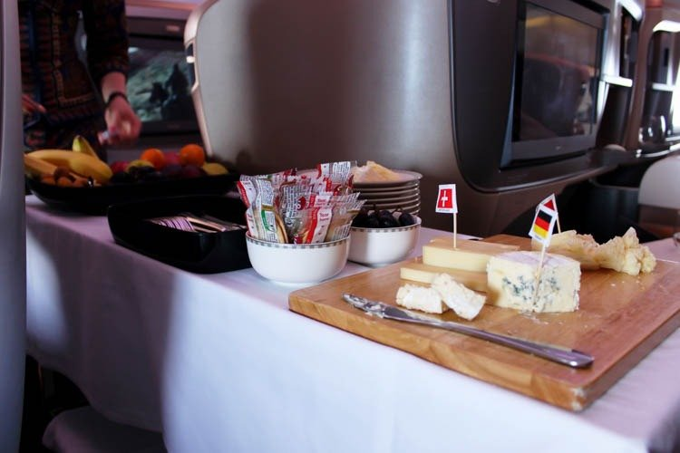 Cheese Cart on Singapore Airlines