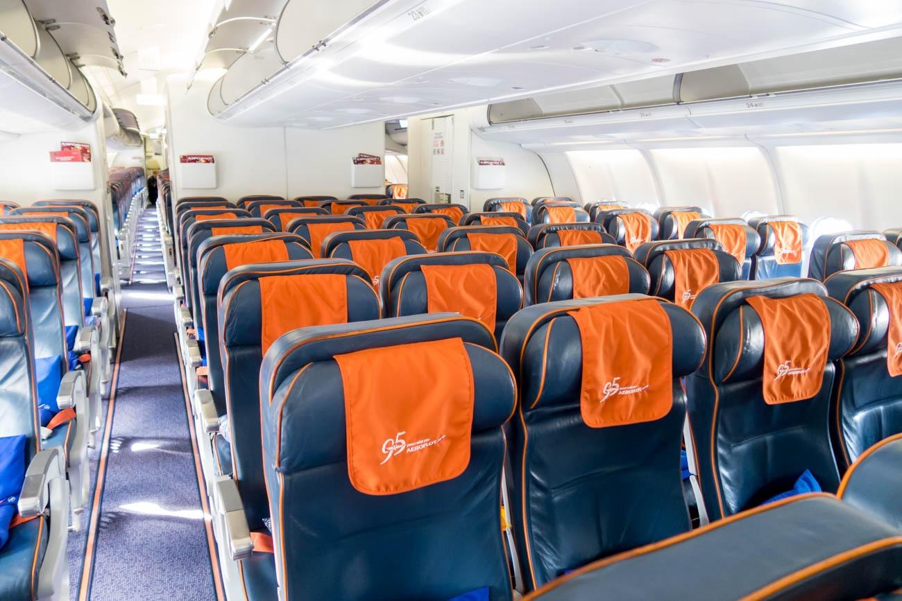 Aeroflot A330-300 Economy Class Cabin
