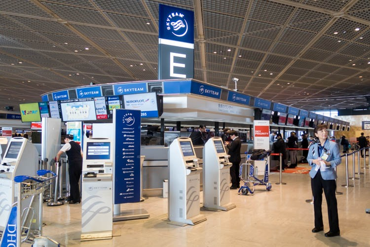 Aeroflot Check-in Counters at Tokyo Narita Airport