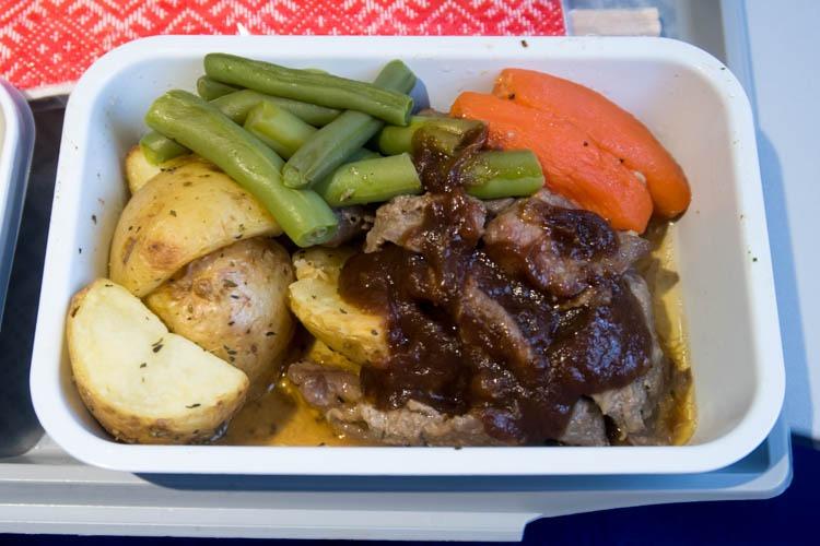 Aeroflot Beef Economy Class Meal