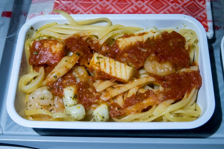 Aeroflot Seafood Pasta