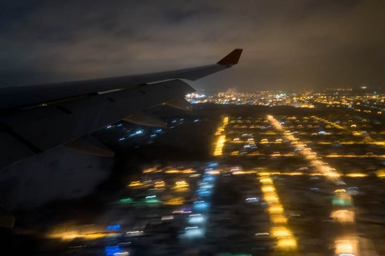 Landing at Moscow Sheremetyevo Airport