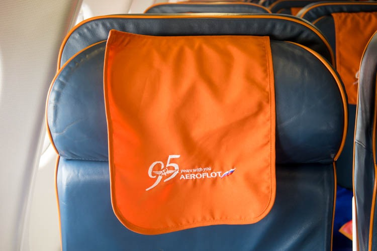 Aeroflot Headrest