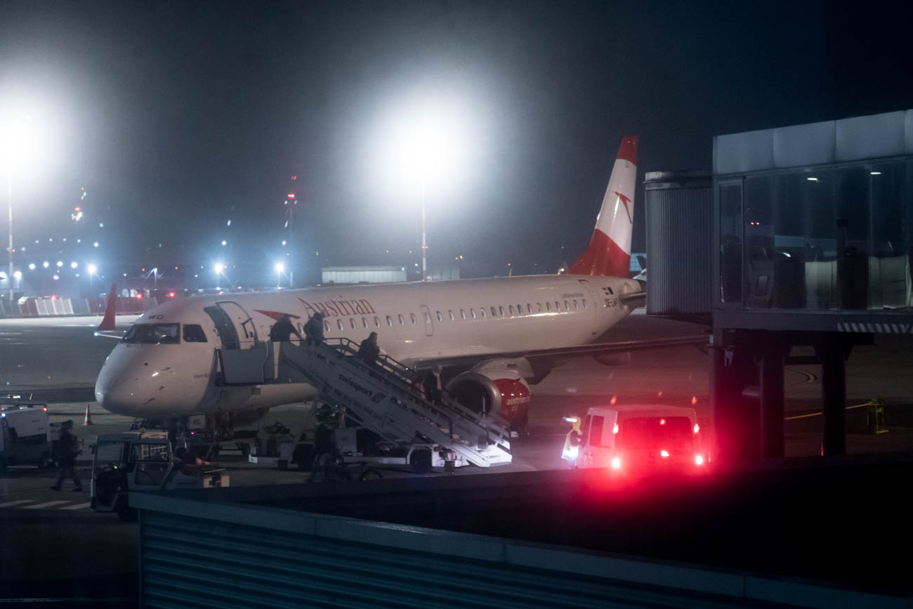 Austrian Airlines Embraer EMB-195 at Basel Airport