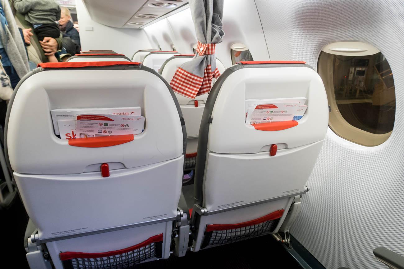 Austrian Airlines Embraer EMB-195 Cabin