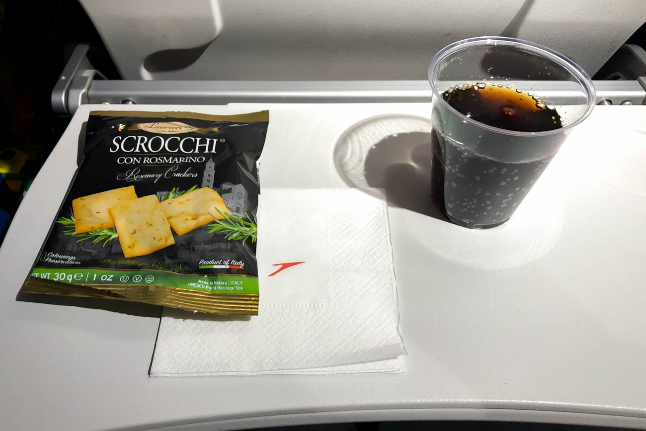 Austrian Airlines Short-Haul Snack and Drink