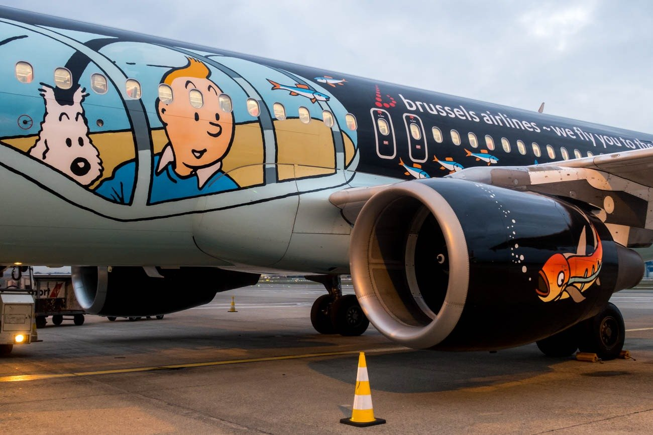 Brussels Airlines Belgian Icons Tintin Livery A320