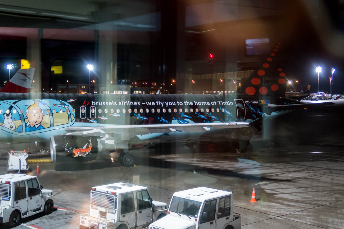 Berussels Airlines A320 in Tintin Livery at Berlin Tegel