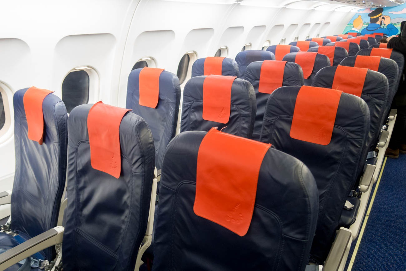 Brussels Airlines A320 Cabin