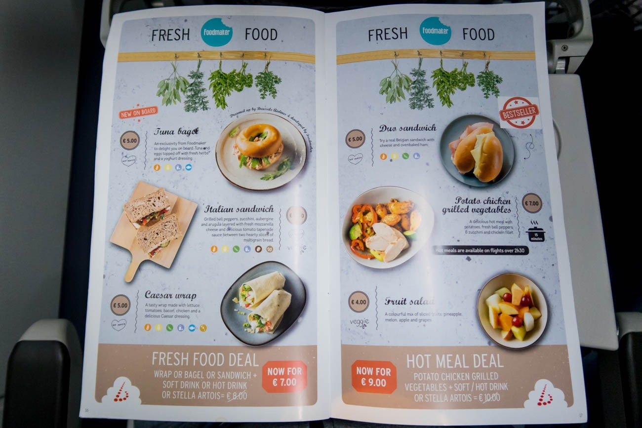 Brussels Airlines Buy on Board Menu